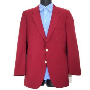 Lanvin Paris Red Patch Pocket Sport Coat Blazer 42
